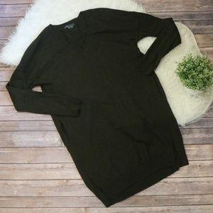 Vince V-Neck Wool Cashmere Sweater Dress